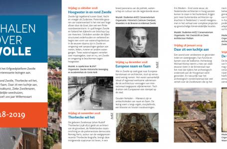 Brochure lezingen 2018-2019 Erfgoedplatform Zwolle