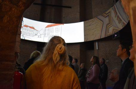 Animatie Zwolle van Boven op de eerste verdieping van de Peperbus